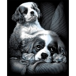 "Reeves™ Scraperfoil™ Scraperfoil Spaniels; Color: Metallic; Size: 8"" x 10""; (model PPSF29), price per each"