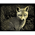 "Reeves™ Scraperfoil™ Gold Foil Fox Cub; Color: Multi; Size: 8"" x 10""; (model PPCF44), price per each"