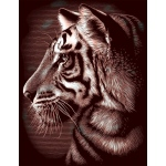 "Reeves™ Scraperfoil™ Gold Foil Tiger; Color: Multi; Size: 8"" x 10""; (model PPCF29), price per each"