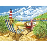 "Reeves™ Large Acrylic Painting By Numbers Set Seashore; Size: 12"" x 15 1/2""; (model PL89), price per each"