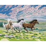"Reeves™ Large Acrylic Painting By Numbers Set Galloping Horse; Size: 12"" x 15 1/2""; (model PL26), price per each"