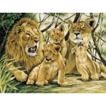"Reeves™ Large Acrylic Painting By Numbers Set Pride of Lions; Size: 12"" x 15 1/2""; (model PL24), price per each"