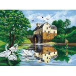 "Reeves™ Large Acrylic Painting By Numbers Set Watermill; Size: 12"" x 15 1/2""; (model PL27), price per each"