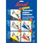 "Saral Wax-Free Transfer Paper: Sheet Sampler, 8 1/2"" x 11"", 1 each Color"