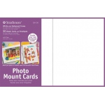 """Strathmore® Photo Mount Cards 50-Pack White; Color: White/Ivory; Envelope Included: Yes; Format: Card; Quantity: 50 Cards; Size: 5"""" x 6 7/8""""; Weight: 80 lb; (model ST105-230), price per 50 Cards"""