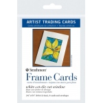 "Strathmore® 3.5"" x 4.875"" White Die Cut Window Artist Trading Card Frame Cards; Color: White/Ivory; Format: Artist Trading Card; Quantity: 6 Cards; Size: 3 1/2"" x 4 7/8""; (model ST105-912), price per 6 Cards"