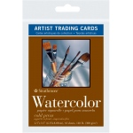 "Strathmore® 400 Series 2.5"" x 3.5"" Cold Press Watercolor Artist Trading Cards; Color: White/Ivory; Format: Artist Trading Card; Quantity: 10 Cards; Size: 2 1/2"" x 3 1/2""; Texture: Cold Press; Type: Watercolor; Weight: 140 lb; (model ST105-904), price per 10 Cards"