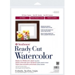 "Strathmore® 500 Series 11"" x 14"" Hot Press Ready Cut Watercolor Sheet Pack; Color: White/Ivory; Format: Sheet; Quantity: 6 Sheets; Size: 11"" x 14""; Texture: Hot Press; Weight: 140 lb; (model ST140-311), price per 6 Sheets"