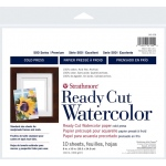 "Strathmore® 500 Series 8"" x 10"" Cold Press Ready Cut Watercolor Sheet Pack: White/Ivory, Sheet, 10 Sheets, 8"" x 10"", Cold Press, 140 lb, (model ST140-208), price per 10 Sheets"