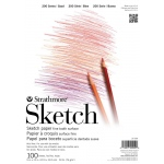 """Strathmore® 200 Series 9"""" x 12"""" Tape Bound Sketch Pad; Binding: Tape Bound; Color: White/Ivory; Format: Pad; Quantity: 100 Sheets; Size: 9"""" x 12""""; Weight: 50 lb; (model ST25-509), price per 100 Sheets pad"""