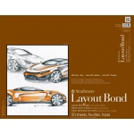 "Strathmore® 400 Series 19"" x 24"" Glue Bound Layout Bond Pad; Binding: Glue Bound; Color: White/Ivory; Format: Pad; Quantity: 50 Sheets; Size: 19"" x 24""; Type: Layout Bond; Weight: 16 lb; (model ST411-19), price per 50 Sheets pad"