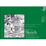 "Strathmore® 400 Series 18"" x 24"" Wire Bound Recycled Sketch Pad: Wire Bound, White/Ivory, Pad, 30 Sheets, 18"" x 24"", Recycled Sketch, 60 lb, (model ST457-18), price per 30 Sheets pad"