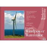 "Strathmore® Windpower™ 18"" x 24"" Cold Press Wire Bound Watercolor Pad; Binding: Wire Bound; Color: White/Ivory; Format: Pad; Quantity: 15 Sheets; Size: 18"" x 24""; Texture: Cold Press; Weight: 140 lb; (model ST640-18), price per 15 Sheets pad"
