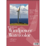"Strathmore® Windpower™ 9"" x 12"" Cold Press Wire Bound Watercolor Pad; Binding: Wire Bound; Color: White/Ivory; Format: Pad; Quantity: 15 Sheets; Size: 9"" x 12""; Texture: Cold Press; Weight: 140 lb; (model ST640-9), price per 15 Sheets pad"