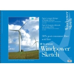 "Strathmore® Windpower™ 18"" x 24"" Wire Bound Sketch Pad: Wire Bound, White/Ivory, Pad, 40 Sheets, 18"" x 24"", 60 lb, (model ST657-18), price per 40 Sheets pad"