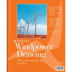 "Strathmore® Windpower™ 9"" x 12"" Medium Surface Wire Bound Drawing Pad: Wire Bound, White/Ivory, Pad, 30 Sheets, 9"" x 12"", Medium, 80 lb, (model ST643-9), price per 30 Sheets pad"