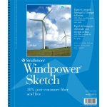"Strathmore® Windpower™ 9"" x 12"" Wire Bound Sketch Pad: Wire Bound, White/Ivory, Pad, 70 Sheets, 9"" x 12"", 60 lb, (model ST657-9), price per 70 Sheets pad"