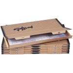 """Safco® Art & Drawing Portfolio 1-1/2 x 44-1/8 x 30-3/4; Color: Brown; Material: Paper; Size: 30 3/4""""l x 44 1/8""""w x 1 1/2""""h; (model 3009F), price per box"""