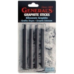 General's® Graphite Sticks; Color: Black/Gray; Format: Stick; Type: Drawing Lead; (model 970ABP), price per pack