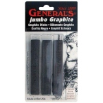 General's® Jumbo Graphite Sticks; Color: Black/Gray; Format: Stick; Type: Drawing Lead; (model 980ABP), price per pack