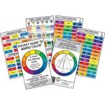 "Color Wheel™ Pocket Guide to Mixing Color™ 3"" x 5"" Color Mixing Guide: Card, (model CW3452), price per each"
