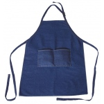 Heritage Arts™ Extra Large Adult Size Denim Artist Apron; Color: Blue; Material: Denim; Size: Adult; (model DAP2536), price per each