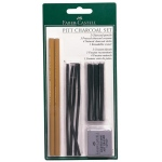 Faber-Castell® PITT® Charcoal Set; Color: Black/Gray; Format: Pencil, Stick; (model FC112996), price per set