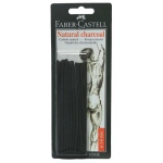 Faber-Castell Natural Willow Charcoal Sticks: 3-6mm, 20-Pack