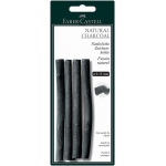 Faber-Castell® Natural Willow Charcoal Stick 4-Pack; Color: Black/Gray; Format: Stick; Size: 7 mm - 15 mm; Type: Willow; (model FC129498), price per pack