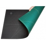 "Alvin® GBM Series Green/Black Professional Self-Healing Cutting Mat 40 x 60: Black/Gray, Green, Grid, Vinyl, 40"" x 60"", 3mm, Cutting Mat, (model GBM4060), price per each"
