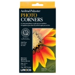 Lineco® Archival Polyester Photo Corners; Color: Clear; Material: Mylar; Quantity: 240-Pack; (model L5330020), price per 240-Pack