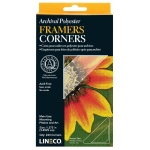 Lineco® Archival Polyester Framers Corners; Color: Clear; Material: Mylar; Quantity: 240-Pack; (model L5330021), price per 240-Pack