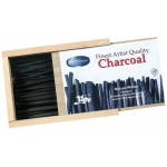 "Yarka Natural Willow Charcoal Set: 50 Sticks, Various Diameter x 4 3/8"" Length"