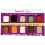 Sculpey® III Polymer Clay Multipack Natural: Multi, Bar, Polymer, 10-Pack, 2 oz, (model S3MP03001), price per set
