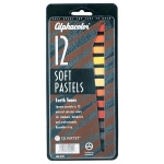 Alphacolor® Earth Tones Soft Pastels 12-Color Set; Color: Multi; Format: Stick; Type: Soft; (model QT145011), price per set