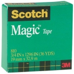 "Scotch® Magic™ 3/4"" x 1296"" Tape; Type: General; Width: 3/4""; (model 810), price per each"