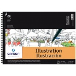 "Canson® Artist Series Artist Illustration Wire Bound Pad 18"" x 24""; Binding: Wire Bound; Color: White/Ivory; Format: Pad; Size: 18"" x 24""; Weight: 150 lb; (model C200006121), price per pad"