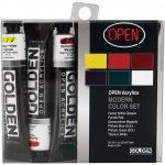 Golden® OPEN Acrylic Introductory Set; Color: Multi; Format: Tube; Size: 22 ml; Type: Acrylic; (model 0000044-0), price per set