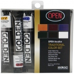 Golden® OPEN Acrylic Introductory Set Traditional; Color: Multi; Format: Tube; Size: 22 ml; Type: Acrylic; (model 0000045-0), price per set