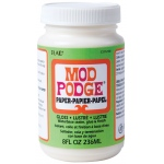Mod Podge® Paper/Acid-Free Gloss 8 oz.: Gloss, Bottle, 8 oz, (model PLCS11238), price per each