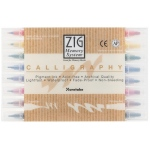 Zig® Calligraphy Markers 8-Color Set; Color: Multi; Double-Ended: Yes; Ink Type: Water-Based; Tip Size: 2mm, 5mm; Tip Type: Broad Nib, Fine Nib; (model MS-3400/8V), price per set