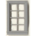 "1/4"" Scale Architectural Components: 8-Pane, Double Hung  Window, Set of 4"