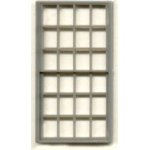 "1/4"" Scale Architectural Components: 24-Pane, Double Hung Window, Set of 3"