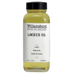 Williamsburg® Linseed Oil 4 oz. Bottle: 4 oz, Linseed Oil, (model 6009003-4), price per each