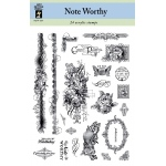 Hot Off the Press Clear Stamp Set Noteworthy; Mounted: No; (model HOTP1077), price per set