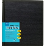 "Itoya® Art Profolio® Multi-Ring Refillable Binder 11"" x 17"": Black/Gray, 11 Pages, 11"" x 17"", (model RB1117), price per each"