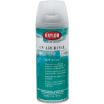 Krylon® Gallery Series™ UV Archival Varnish Spray Satin; Finish: Satin; Size: 11 oz; Type: Workable Fixative; (model K1377), price per each