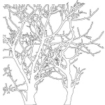 "The Crafter's Workshop 6"" x 6"" Design Template Branches: 6"" x 6"", Patterned Stencil, (model TCW208S), price per each"