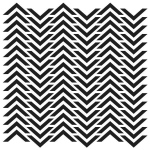 "The Crafter's Workshop 6"" x 6"" Design Template Chevron; Size: 6"" x 6""; Type: Patterned Stencil; (model TCW227S), price per each"