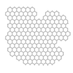 "The Crafter's Workshop 6"" x 6"" Design Template Chicken Wire: 6"" x 6"", Patterned Stencil, (model TCW239S), price per each"